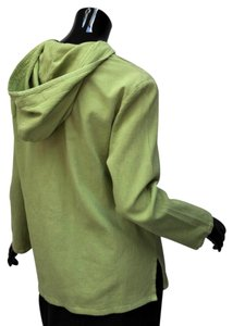 Chico's Hoodie Chapeaunoir Crinkle Cotton Textured Spring Tunic