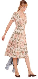 Reformation short dress peach floral Wedding Bridesmaid Floral Romantic on Tradesy