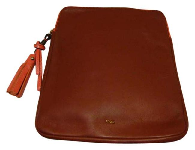 Item - Multicolor Leather Ipad Pouch Bag Case Cover *zip Around* Nwot Tech Accessory