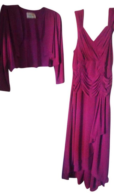 Item - Magenta/Purple 2 Piece Mid-length Formal Dress Size 14 (L)