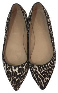 J.Crew Pointed Leopard brown/black Flats