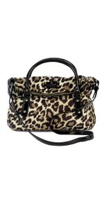 Kate Spade Cheetah Print Nylon Patent Leather Shoulder Bag