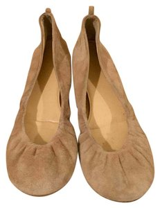 J.Crew Ballet Pink Cece Leather Saddle Brown Flats