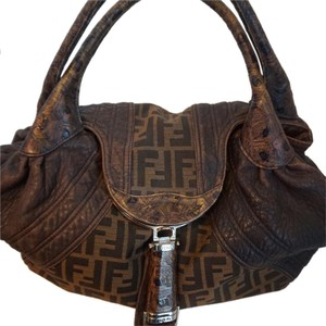 Fendi Satchel in Brown/Black