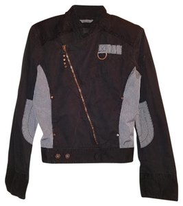 Diesel Designer Gray Hipster Metal Sexy Night Out Motorcycle Jacket