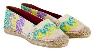 Missoni Espadrilles Espadrilles Flame Stitch purple and green pastel Flats
