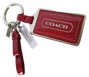 Coach COACH Park Red Patent Leather Key Ring Key Chain 65745