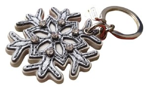 Coach COACH LEATHER PAVE SNOWFLAKE KEYCHAIN BRAND NEW!!