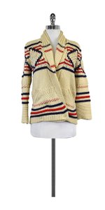 Isabel Marant Oatmeal Blue Red Knit Sweater