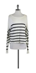 Vince Black White Striped Sweater