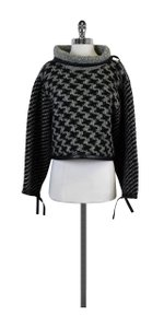 Rag & Bone Grey Black Houndstooth Cape