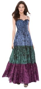 Multi-color Maxi Dress by Betsey Johnson Garden Toile Prairie Maxi