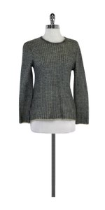 Giorgio Armani Blue Grey Oatmeal Knit Sweater