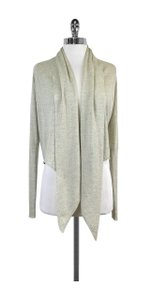 AllSaints Light Grey Draped Open Front Cardigan