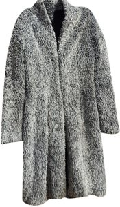 Betsey Johnson Faux Fur Trench Trench Coat