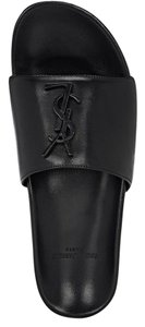 Saint Laurent Pool Slide Joan Ysl black Sandals
