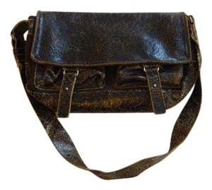 Francesco Biasia Leather Distressed Leather Flap Cross Body Bag
