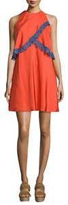Tory Burch short dress red/orange on Tradesy