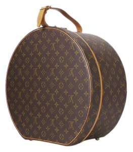 Louis Vuitton Lv Travel Lv Luggage Hat Case Trunk Luggage Brown Travel Bag