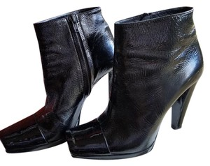 Pierre Hardy Patent Leather Sexy Toe Detail black Boots