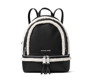 Michael Kors Rhea Leather Shearling Backpack