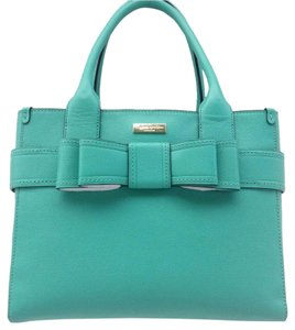 Kate Spade Handbag Leather Quinn Satchel in DUSTY EMERALD