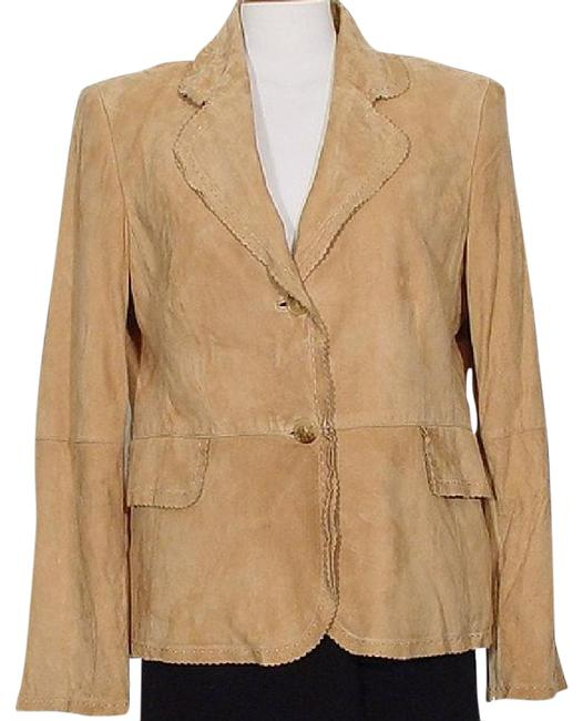 Ellen Tracy Suede Brown Jacket