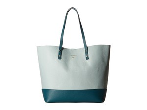 Cole Haan Large Beckett Leather Tote in SPEARMINT/PEACOCK
