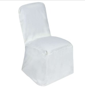 64 Ivory Chair Covers Square Top