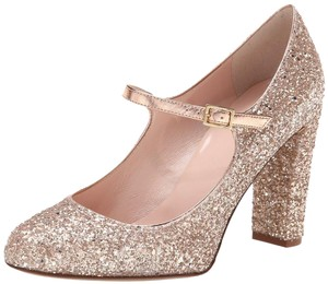 Kate Spade Mary Jane Gold Glitter Glitter Heels Mary Jane Heels Rose Gold Formal