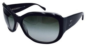 Chanel Chanel Black Butterfly Iridescent Sunglasses w/Gradient Lens 5226-H 64