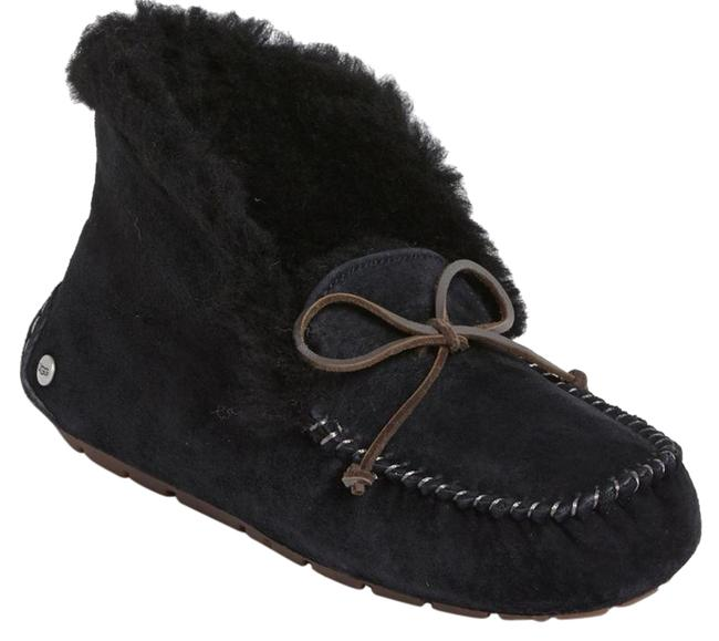 Item - Black Box Alena Collared-tie Sheepskin Slipper New with Moccasins Boot Bootie Flats Size US 6 Regular (M, B)
