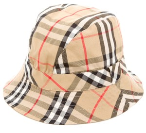 Burberry Tan, black, brown Burberry Nova Check cotton bucket hat