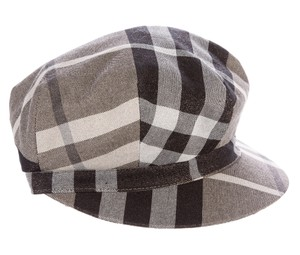 Burberry Grey multicolor Exploded Check canvas Burberry newsboy hat M