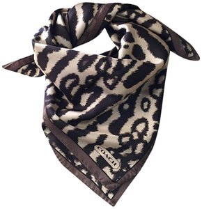 Coach Coach Ocelot 100% Silk Ponytail Scarf for Coach Signature Leopard bag