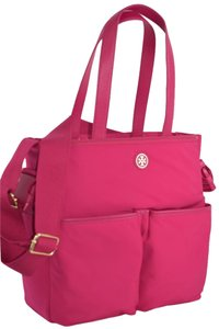 Tory Burch Stylish Mom Messanger Color Carnation (Pink) Diaper Bag