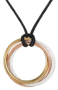 Cartier Cartier Trinity Large Diamond 18-K Tri-color Gold Pendant Necklace