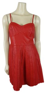 Free People short dress RED Sz M on Tradesy