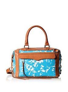 Rebecca Minkoff Mab Mini Leather Canvass Satchel in TURQUOISE