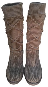UGG Australia Cable Knit Brown Boots