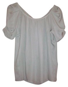 Joie Pleated Sleeves Top pale grey