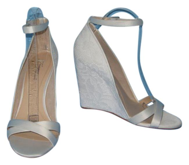 Item - Bone New Imagine By Lilo Lace Covered Wedge Wedding Formal Shoes Size US 9 Regular (M, B)
