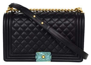 Chanel Boy Quilted Crossbody Shoulder Bag