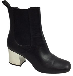 Gucci Silver Heel Black Boots