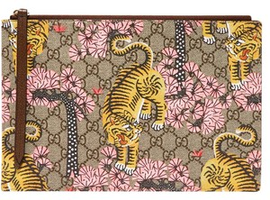 Gucci Gg Printed Special Edition Bengal Supreme Multi Clutch