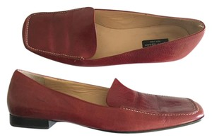 Kate Spade Penny Oxford Textured Leather Red Flats