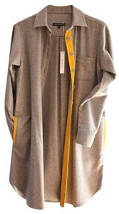 Lyn Devon short dress Gray Cashmere Oversized Leather on Tradesy