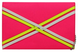 Danielle Nicole Chain Envelope Hot Pink Clutch