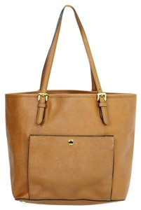 Michael Kors Gold Hardware Luggage Card Slots Tote in Brown