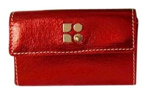 Kate Spade New Leather Mini Wallet/Card Holder In Metallic Red - NIB